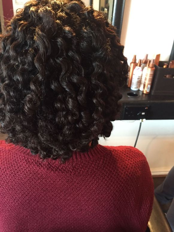 After - Natural Hair Styling