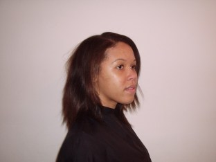 Burgundy Blonde Mix Hair Colour and Relaxer - Before