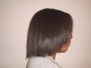 Brazilian Blowout - Short Natural Afro Hair (After Side View)