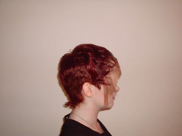 Short Crop Style with Fashion Colour (Side View)