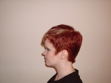 Short Crop Style with Fashion Colour (Left Side View)