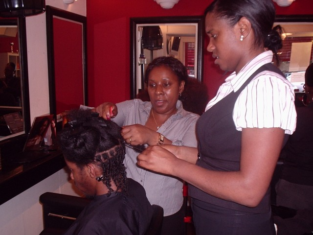 Academy Course - Natural Twist Style by Students - before