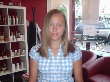 Long Natural Hair to Straight - After