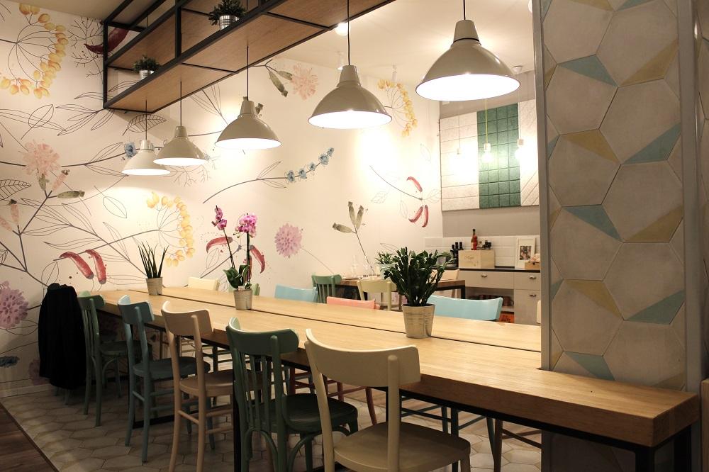 Interno del ristorante Al Callianino di semplicità in virtù