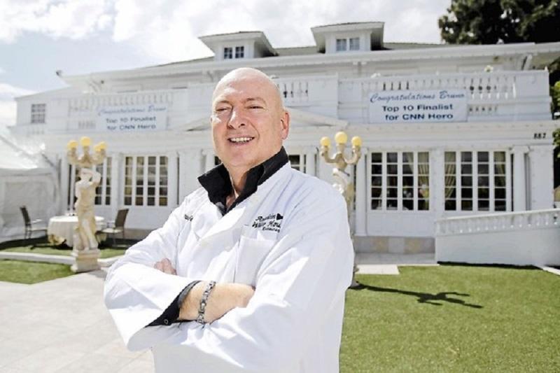 Bruno Serato chef e imprenditore filantropo proprietario del Anaheim White House Restaurant