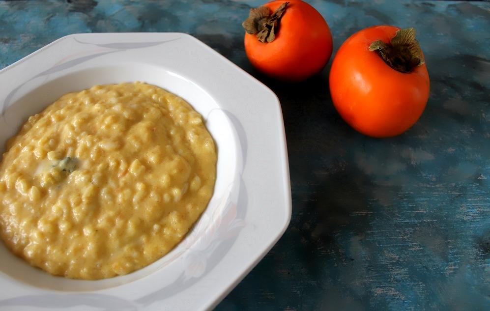 risotto cachi e gorgonzola Silla e Pepe