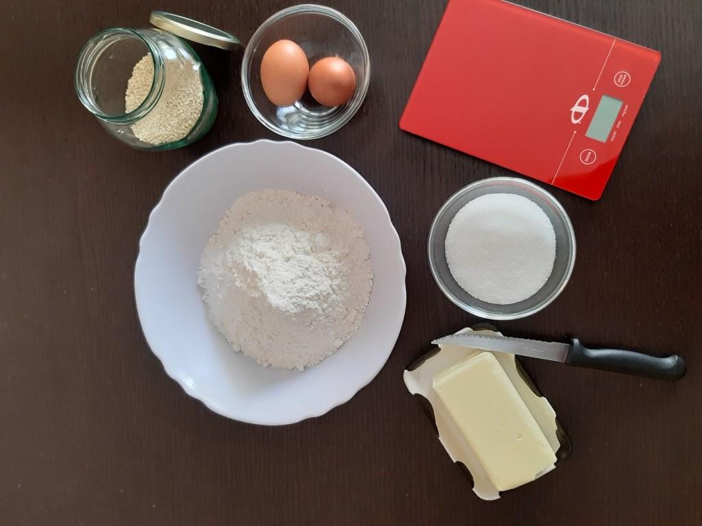 ingredienti biscotti sesamini