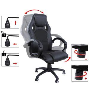 songmics 119-129 cm sillas ergonómicas