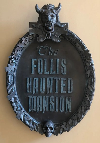 DIY Haunted Mansion entrance sign