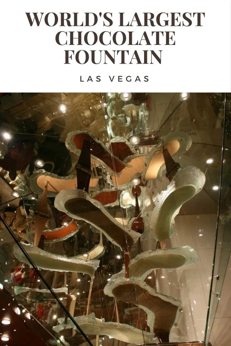 World's Largest Chocolate Fountain in Las Vegas, Nevada