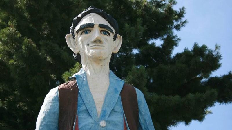 Abraham Lincoln The Railsplitter Statue in Springfield, Illinois