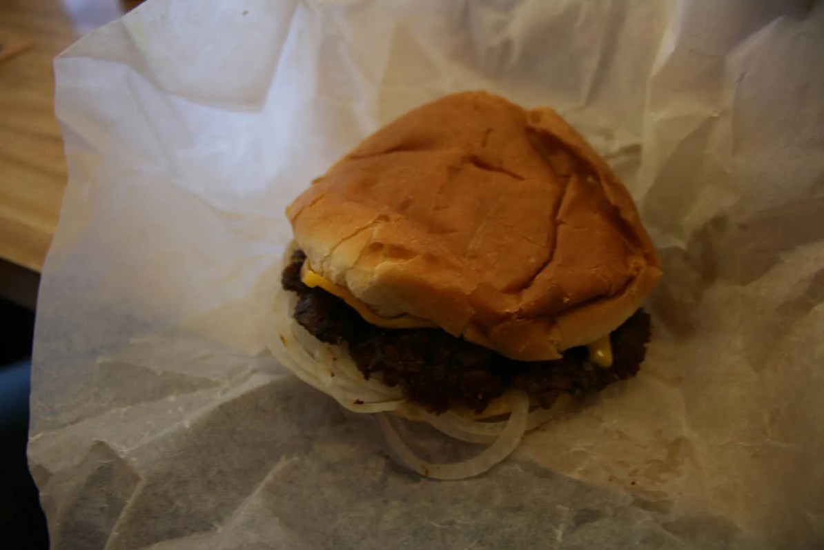 Hooter Burger at the Burger King that is not the Chain Burger King in Mattoon, Illinois