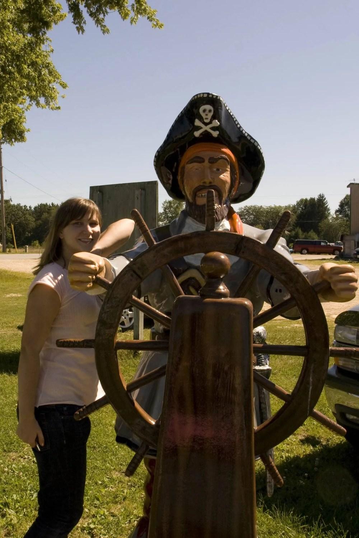 Fiberglass Pirate with wheel - F.A.S.T. - Fiberglass Animals, Shapes & Trademarks in Sparta, Wisconsin