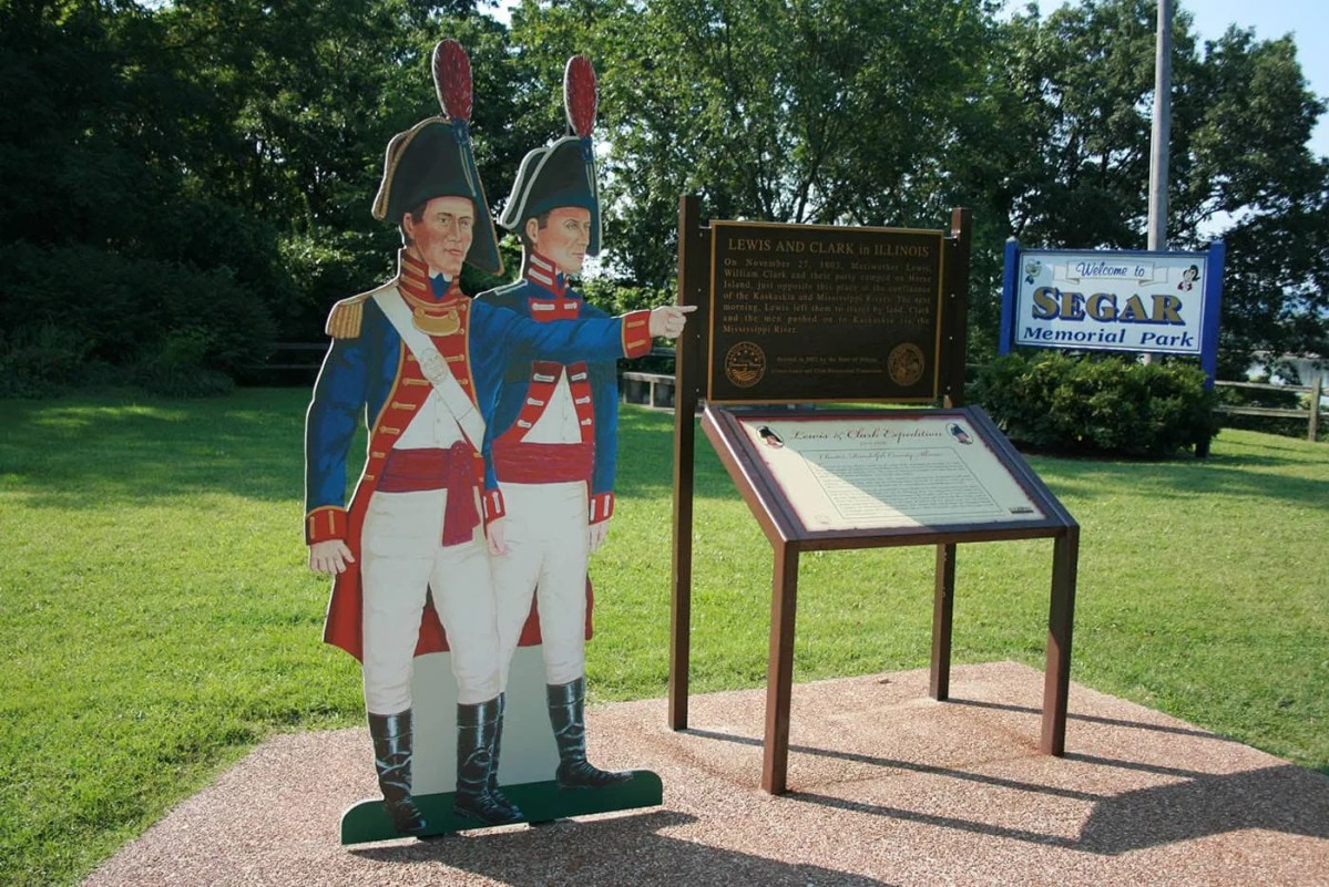 Lewis and Clark in Illinois Tribute in Chester, Illinois