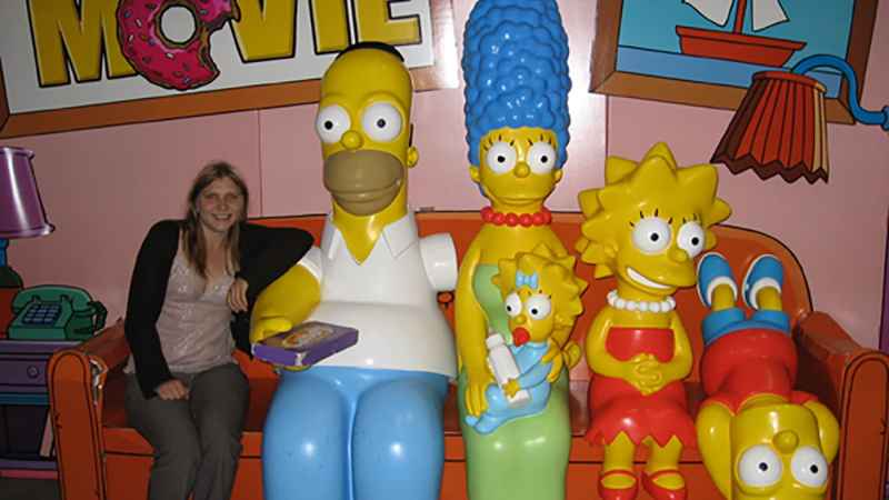 Sit on a couch with the Simpson Family, a promotional tie-in for The Simpsons Movie