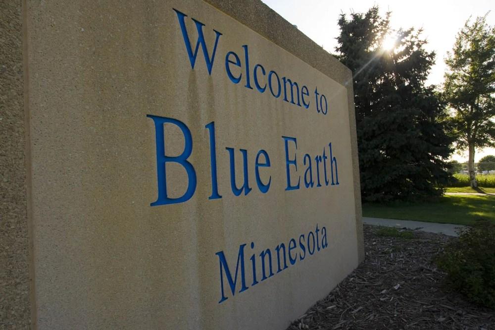 Jolly Green Giant statue in Blue Earth, Minnesota