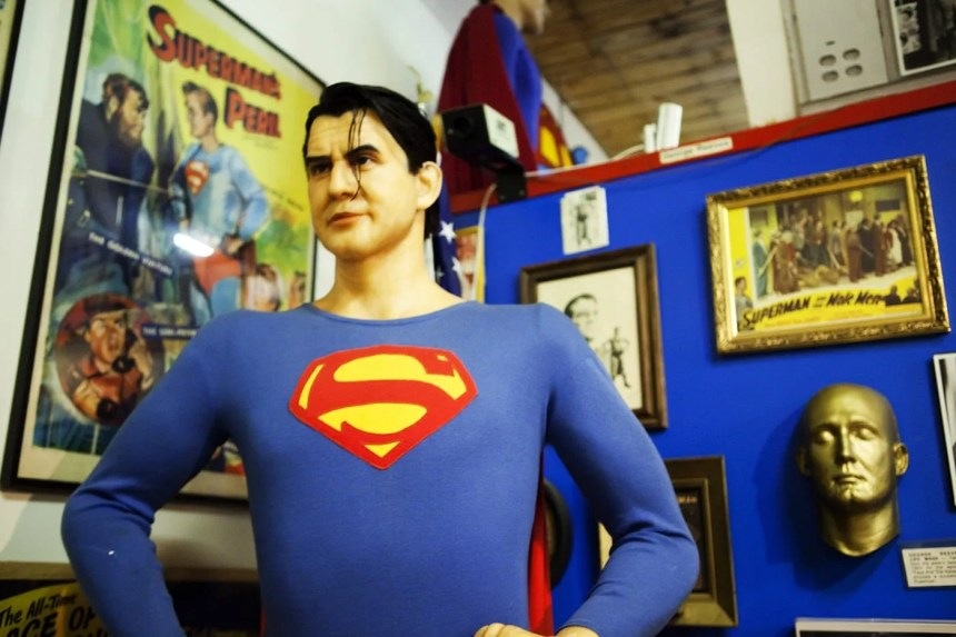 Superman mannequin at the Super Museum in Metropolis, Illinois.