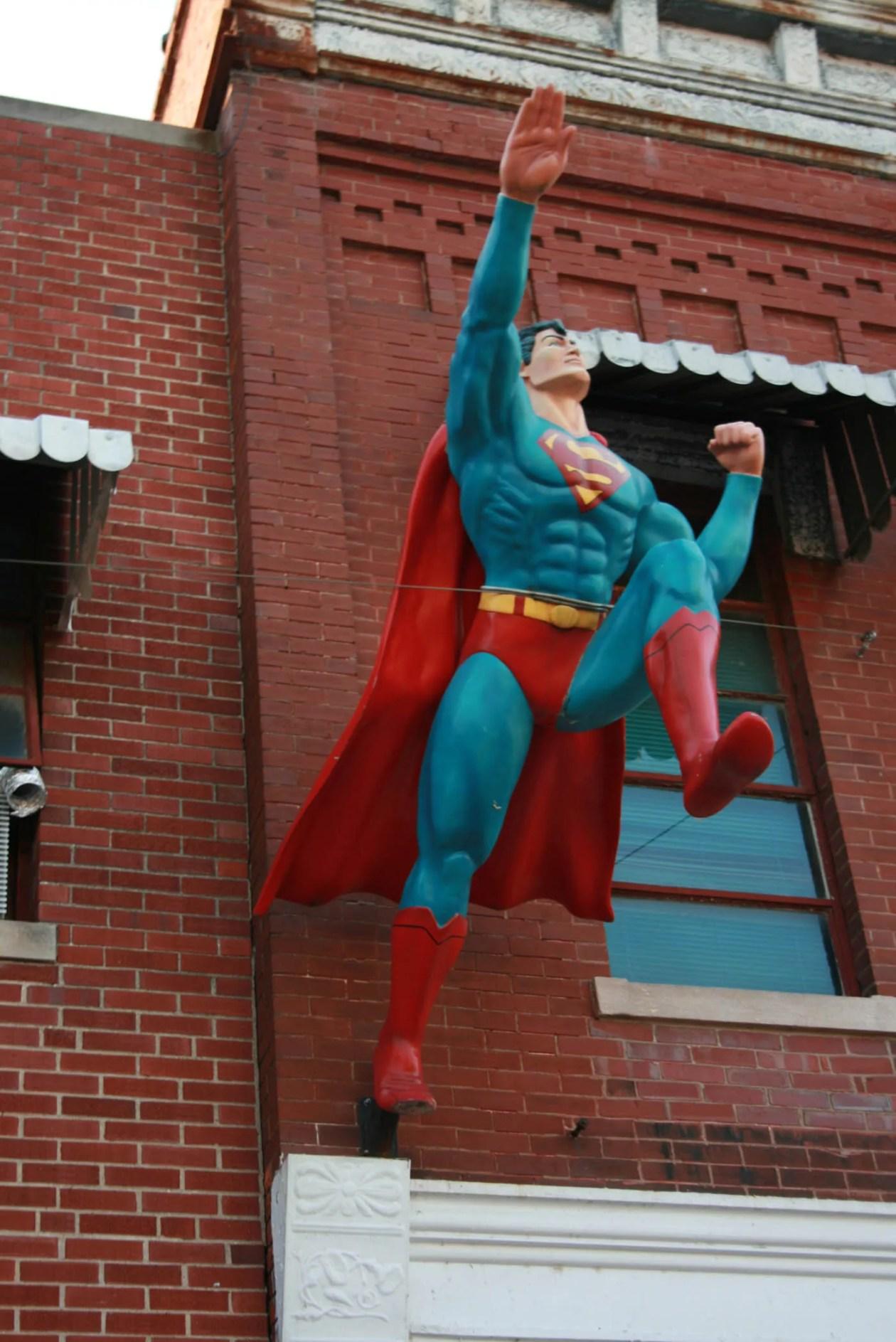 Superman statue in Superman Square in Metropolis, Illinois