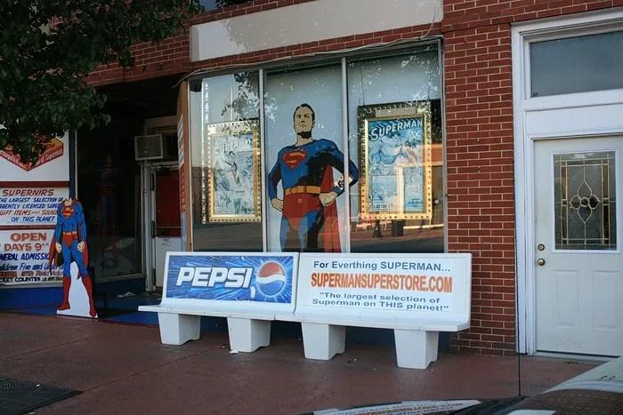 Superman Square in Metropolis, Illinois