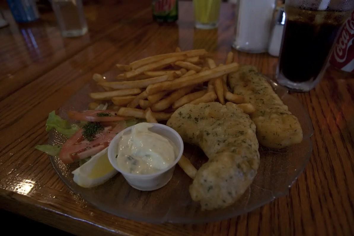 Fish and Chips at Silverado Cafe in Stewart, British Columbia