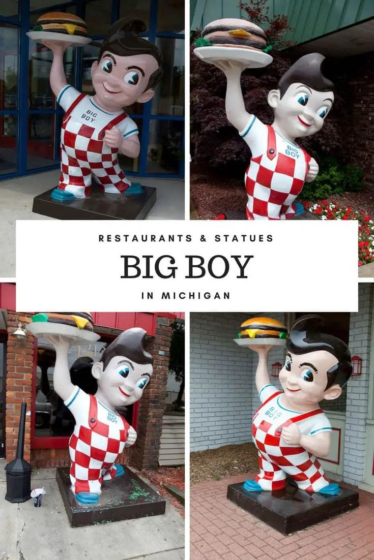 Big Boy Restaurants and Statues in Michigan.