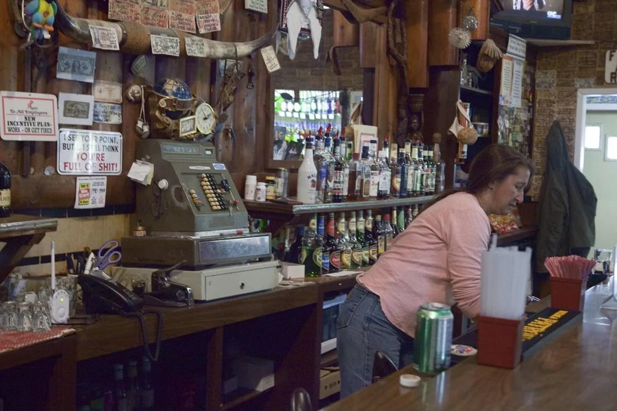 The Bartender at the Glacier Inn in Hyder, Alaska