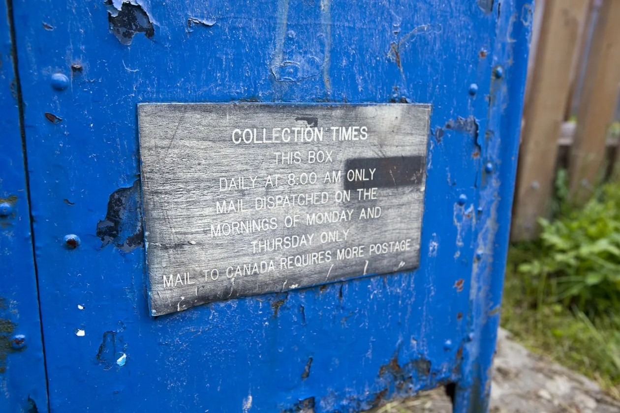 Hyder, Alaska Post Office collection times.