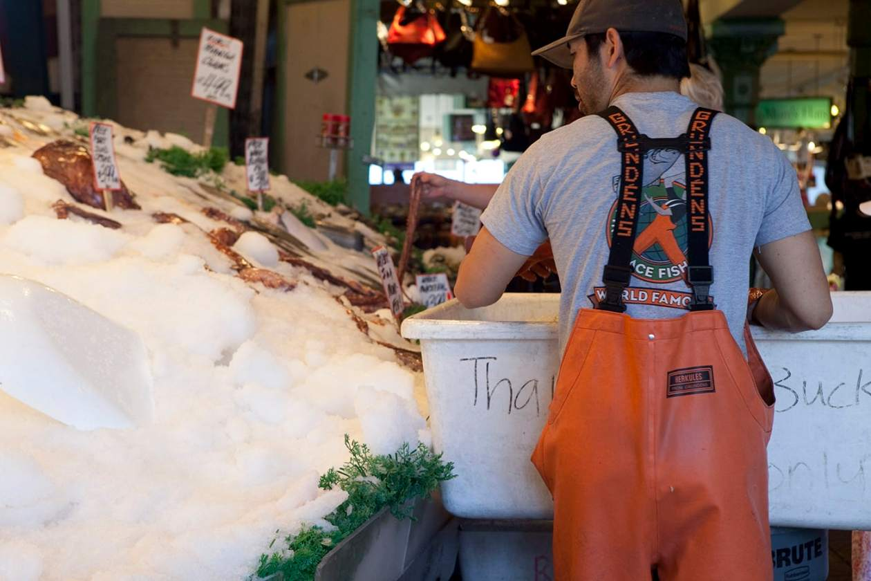 Pike Place Fish Market In Seattle Washington Silly America