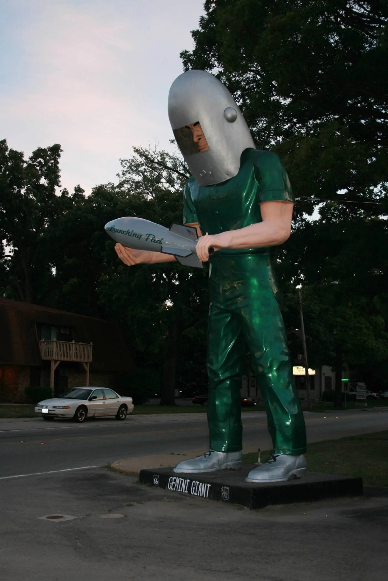 Gemini Giant muffler man at the Launching Pad in Wilmington, Illinois