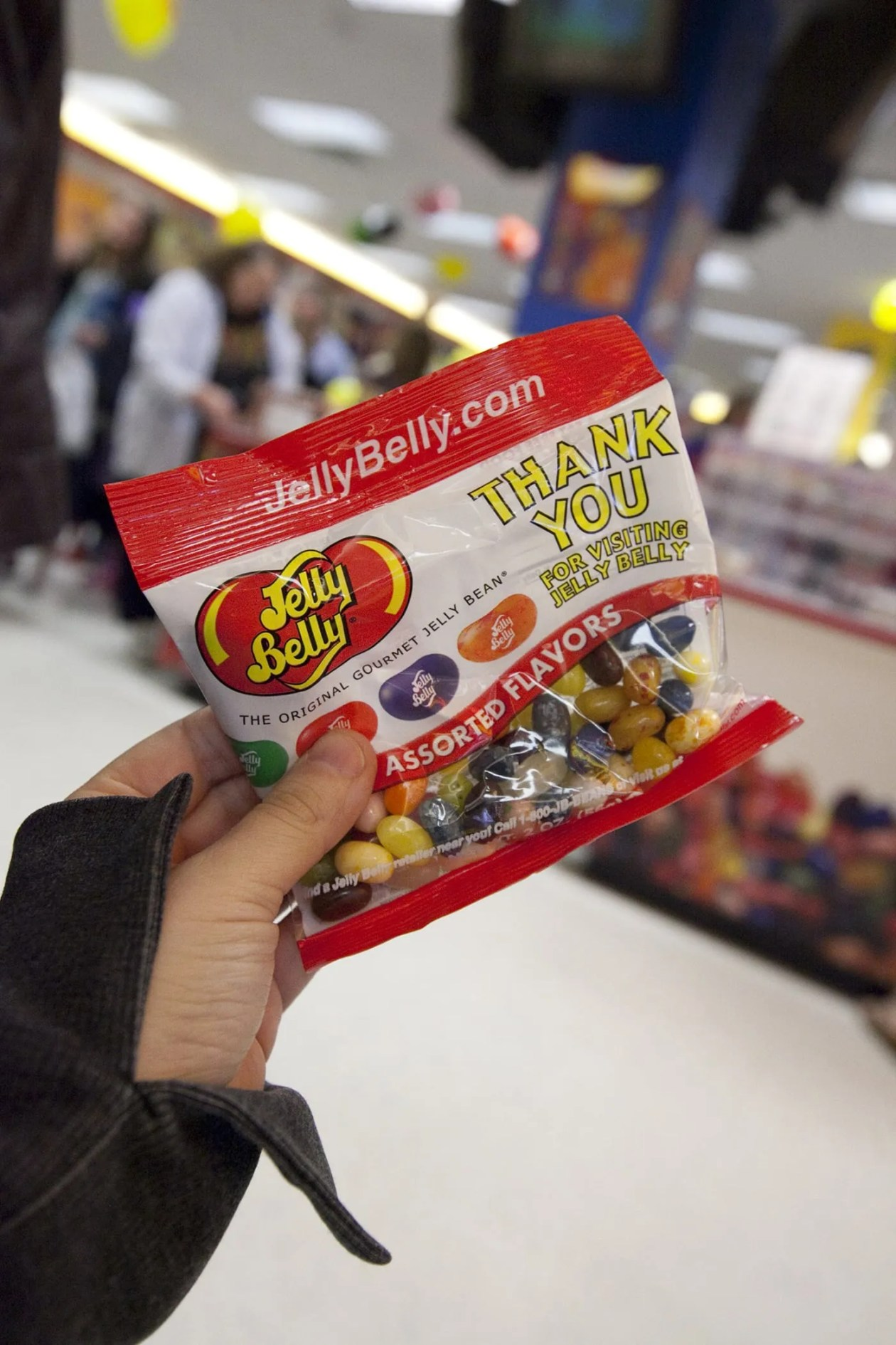 Free Jelly Bellys on the Jelly Belly Tour in Pleasant Prairie, Wisconsin