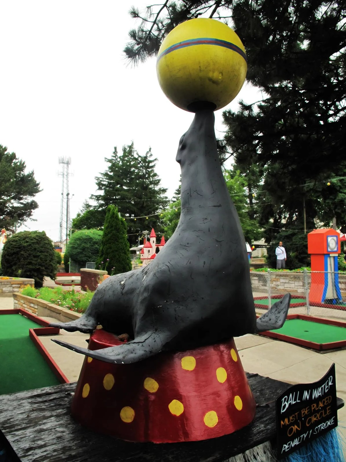 Seal at Novelty Golf in Lincolnwood, Illinois.