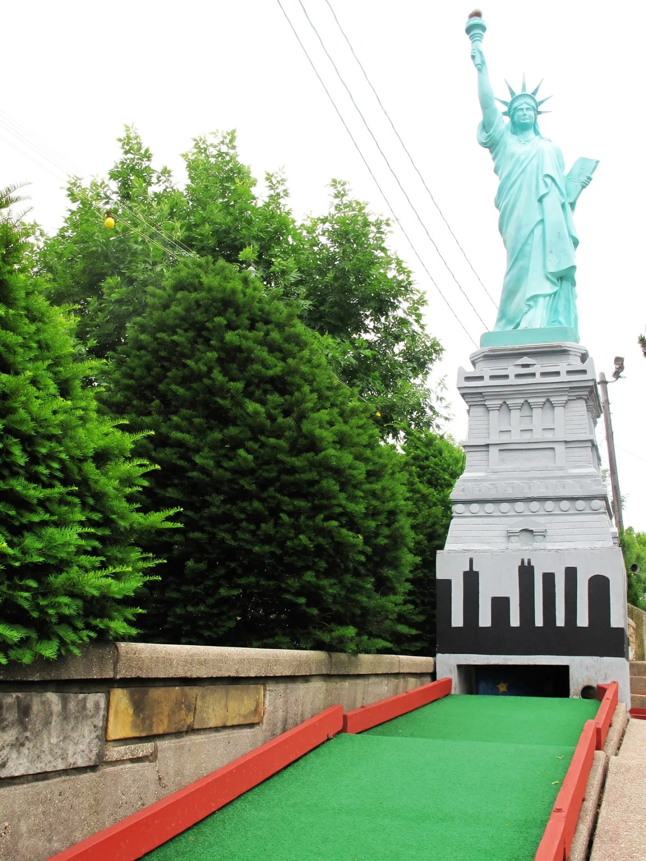 Statue of Liberty at Novelty Golf in Lincolnwood, Illinois.