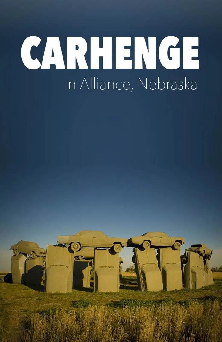 Carhenge, a Stonehenge replica made from cars, in Alliance, Nebraska - Roadside Attractions in Nebraska