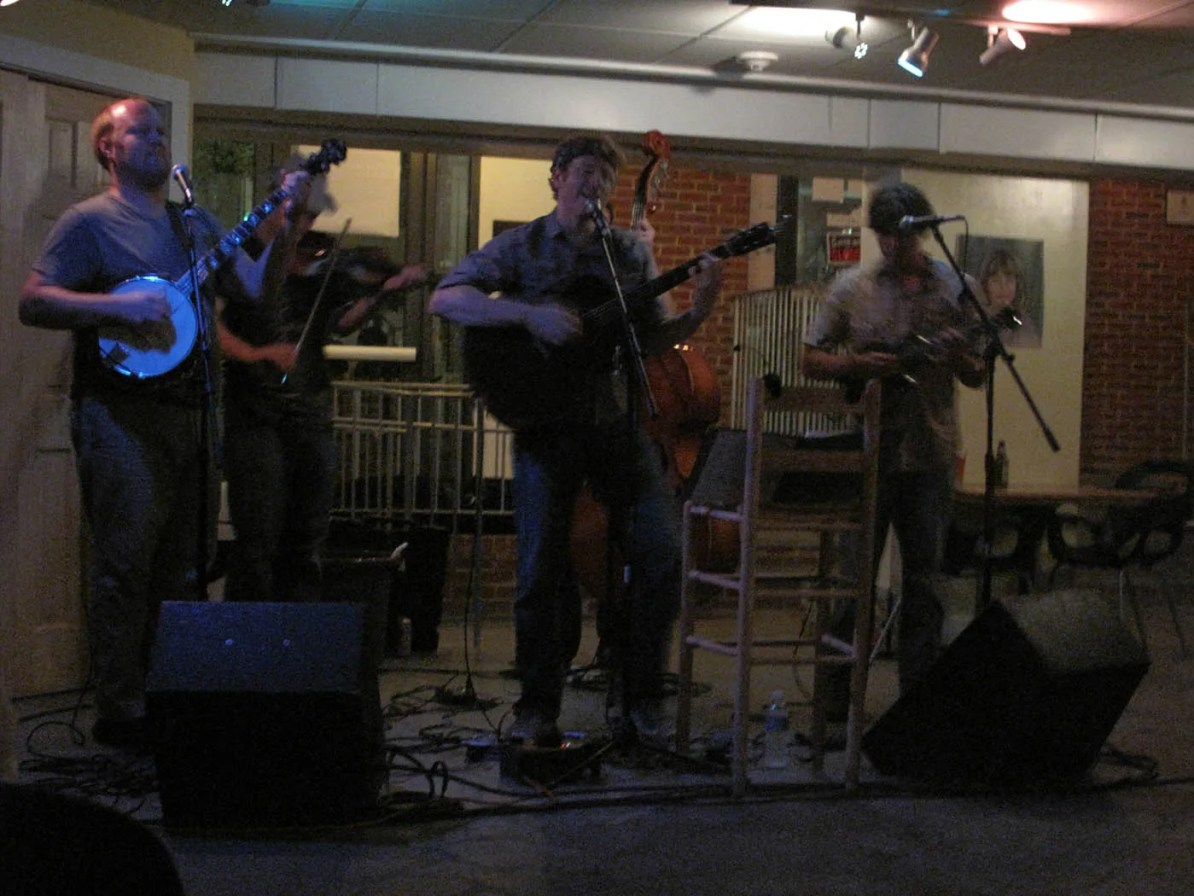 80s cover bluegrass band at the Southern in Charlottesville, Virginia.