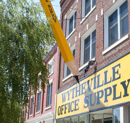 Big Pencil in Wytheville, Virginia - Roadside Attractions in Virginia