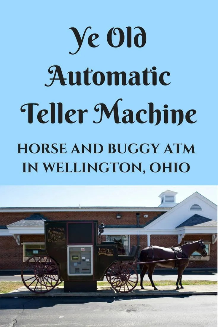 swing chair restaurant nova steel transport amish horse and buggy atm in wellington, ohio 🐴🏧 - silly america