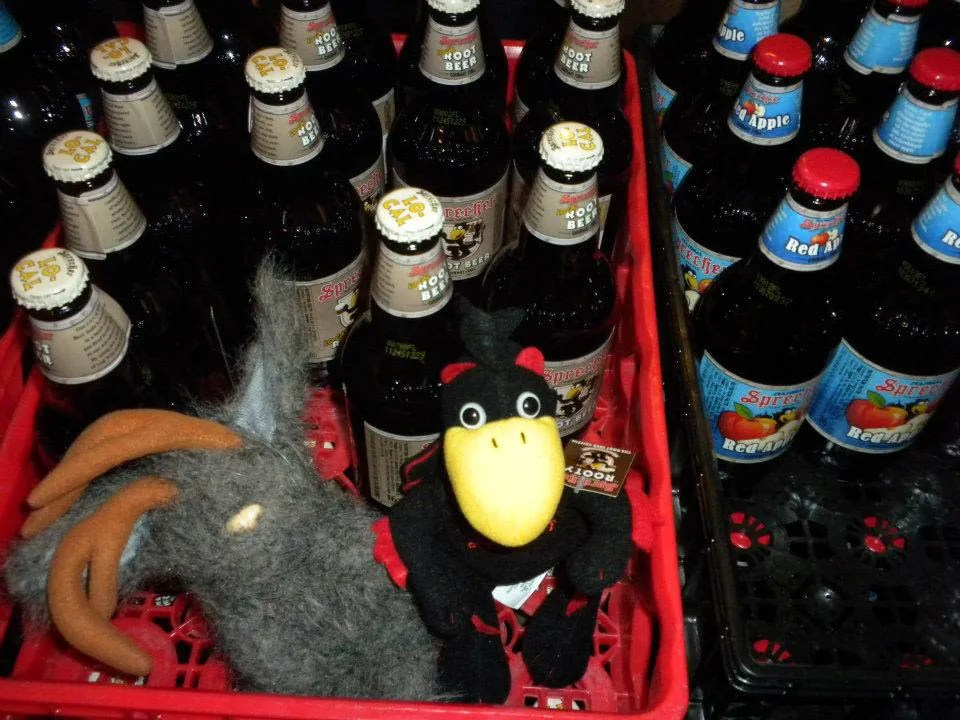 Meeting Rooty at the Sprecher Tour in Milwaukee, Wisconsin.