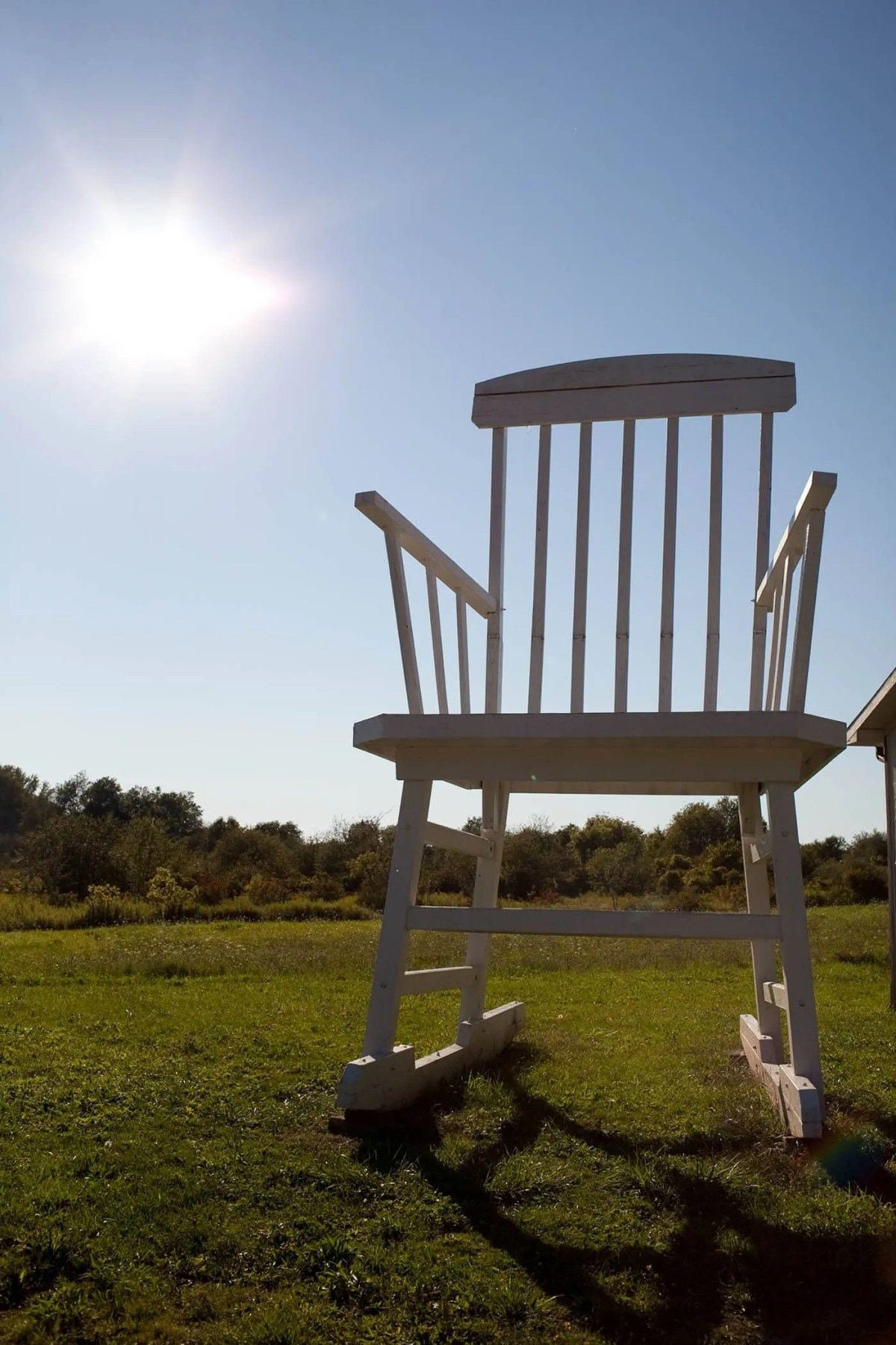 Giant Rocking Chair in Austinburg, Ohio.