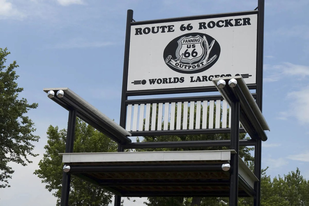 World's Largest Rocking Chair (Route 66 Red Rocker) in Cuba, Missouri
