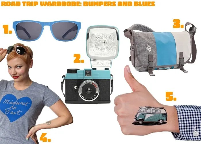 Road Trip Wardrobe: Bumpers and Blues