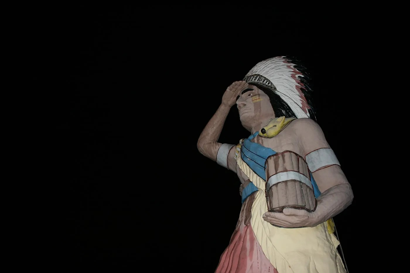 Giant Cigar Store Indian in Oak Lawn, Illinois