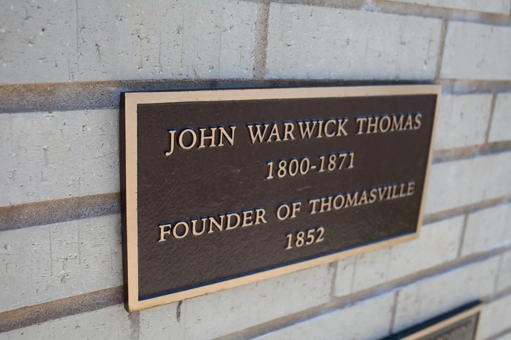 Statue of John Warwick Thomas, founder of Thomasville, North Carolina