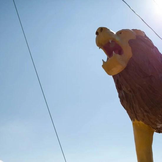 Lions Club Lion Statue in Thomasville, North Carolina