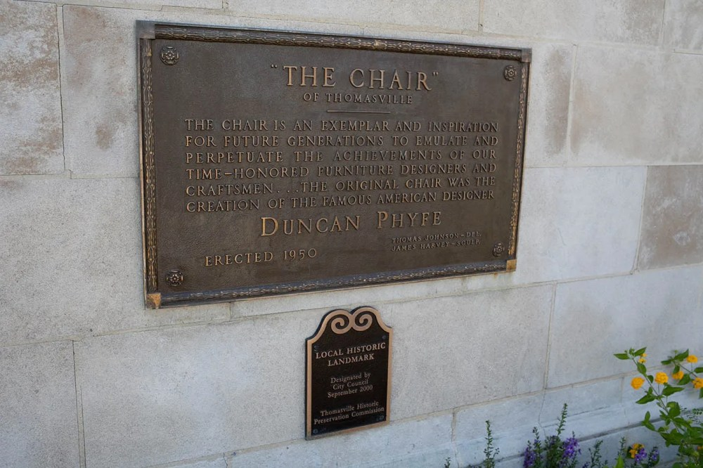 World's Largest Duncan Phyfe Chair in Thomasville, North Carolina