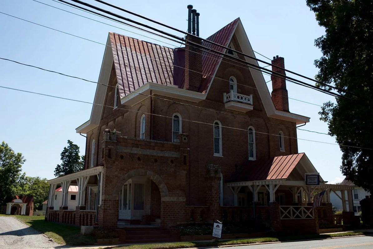 Korner's Folly, a strange house in Kernersville, North Carolina.