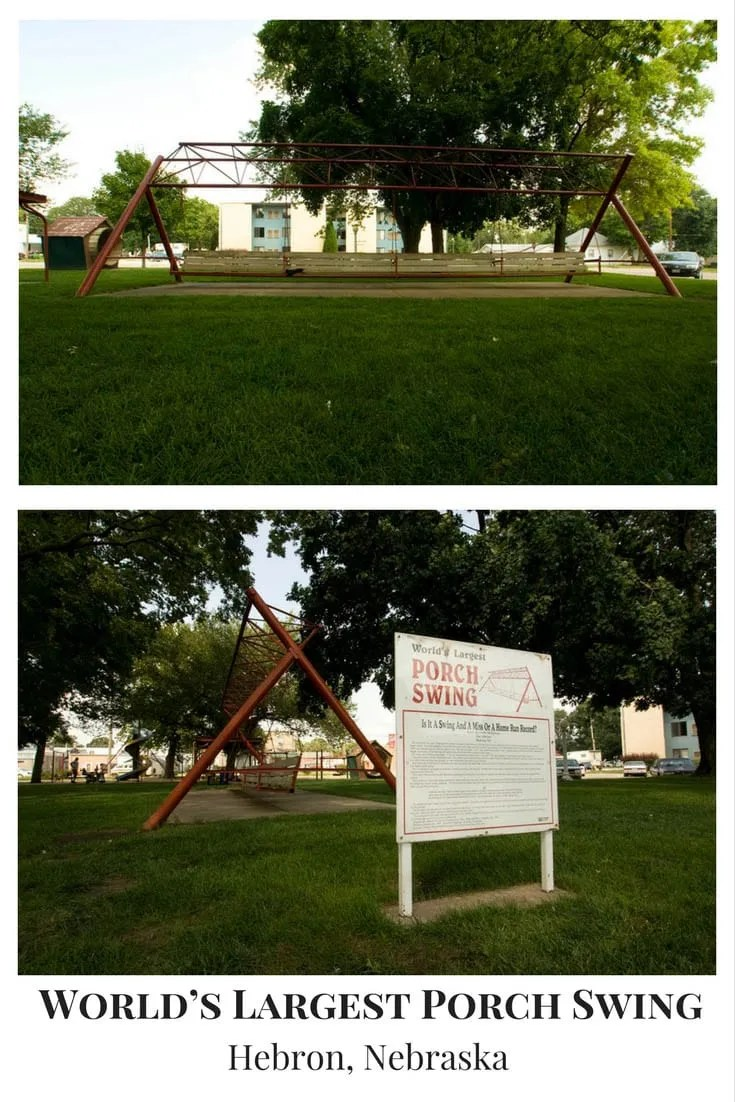 World's Largest Porch Swing in Hebron, Nebraska | Roadside Attractions in Nebraska