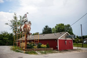 Baker Man Statue in Shirley, Indiana - Also Known as Mister Fifteen or Burger Man