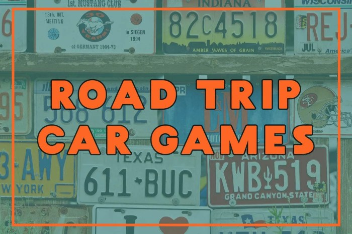 Road Trip Car Games - Free Car Game Printables