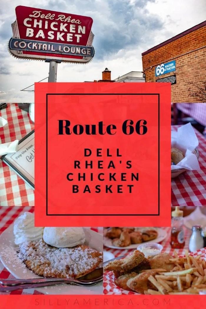 Dell Rhea's Chicken Basket a Route 66 restaurant in Illinois.