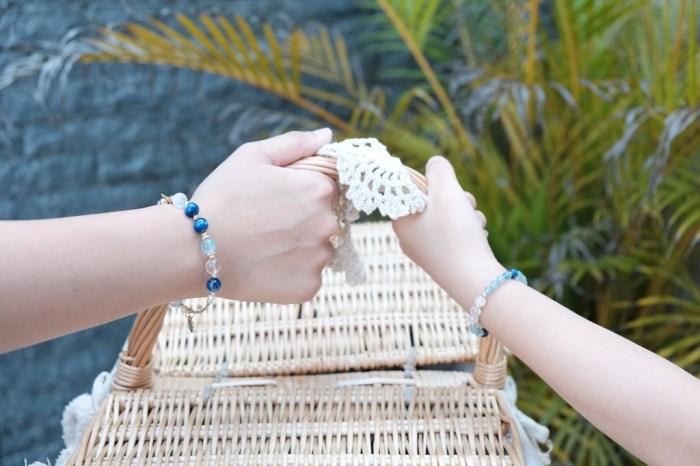 飾品│iSA Treasure 純銀飾品輕珠寶。專屬我們一家人的親子藍晶石設計款能量手串*